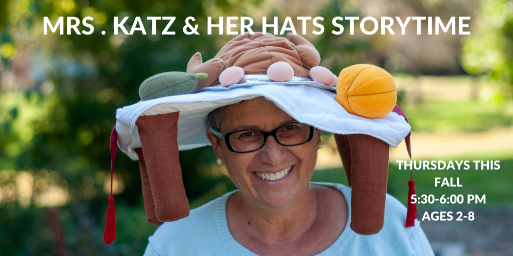 Image of Mrs Katz wearing one of her hats